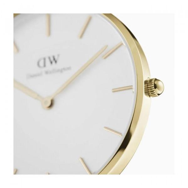 DANIEL WELLINGTON Petite Evergold Mesh Kulta/Valkoinen 36mm DW00100346
