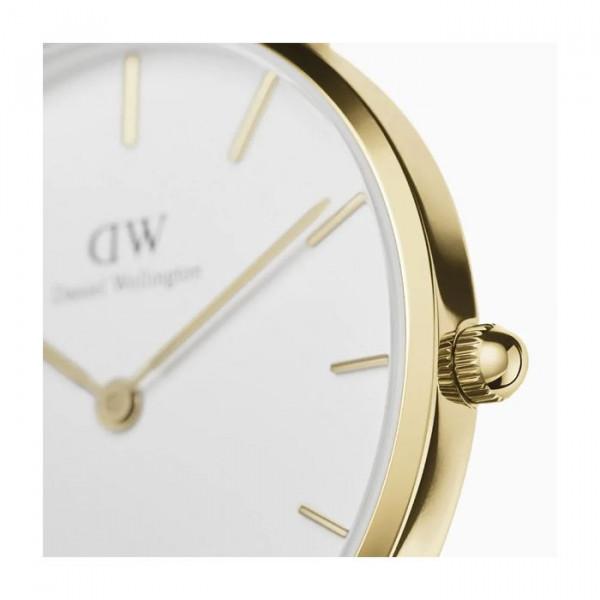 DANIEL WELLINGTON Petite Evergold Mesh Kulta/Valkoinen 32mm DW00100348
