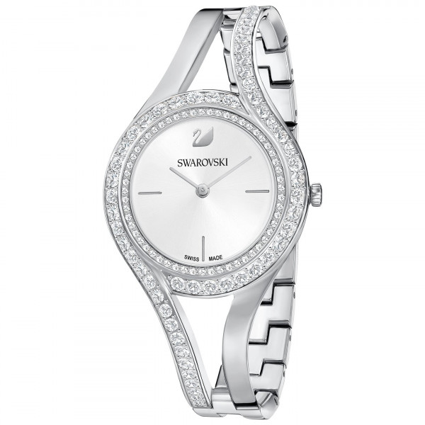 SWAROVSKI Eternal Watch, Metal bracelet, White, Silver tone 5377545