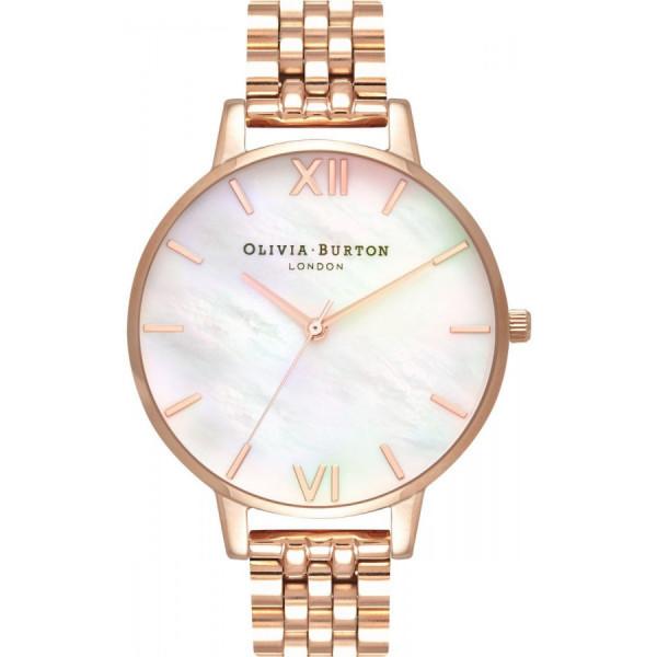OLIVIA BURTON Mother of Pearl White Bracelet, Rose Gold OB16MOP03