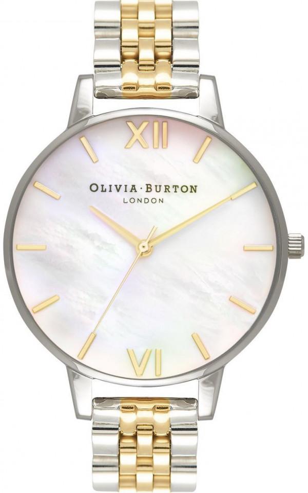 OLIVIA BURTON Mother of Pearl White Bracelet Gold & Silver OB16MOP05