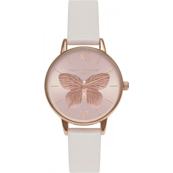 OLIVIA BURTON 3D Butterfly Blush & Rose Gold OB16MB16