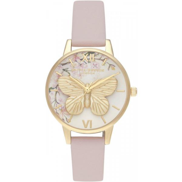 OLIVIA BURTON Pretty Blossom 3D Butterfly Vegan Rose & Gold OB16EG125