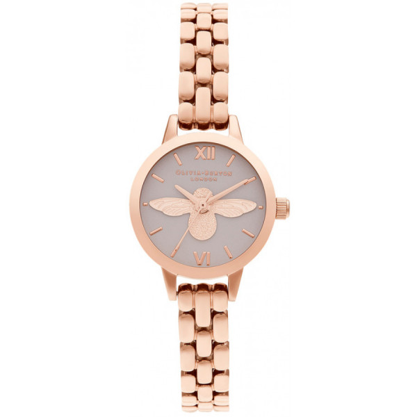 OLIVIA BURTON 3D Bee, Blush Dial & Rose Gold OB16MC53