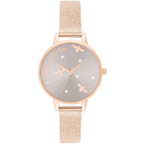 OLIVIA BURTON Pearly Queen Pearl Detail Rose Gold OB16PQ04