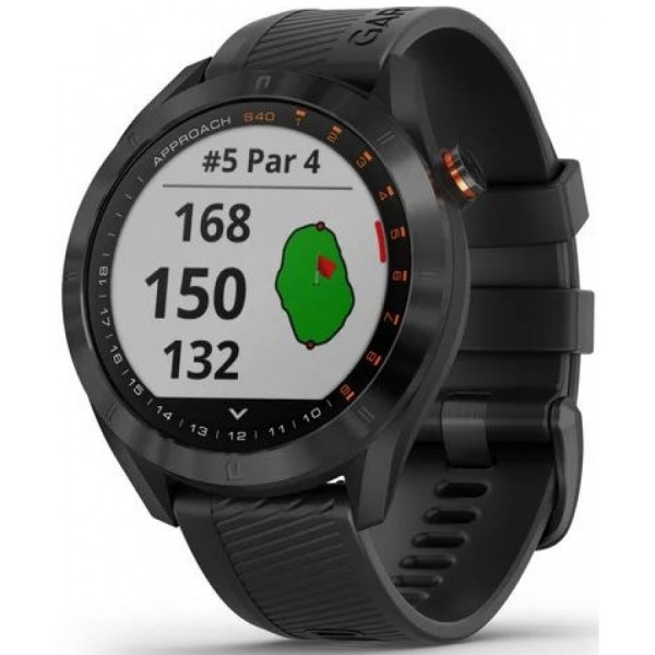 GARMIN Approach S40 Black Stainless Steel with Black Band 010-02140-01 Golfkello