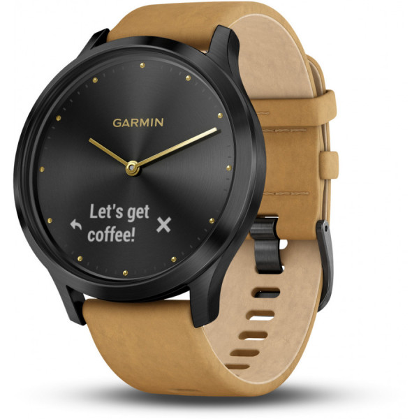 GARMIN Vivomove HR Premium Black-Tan 010-01850-00