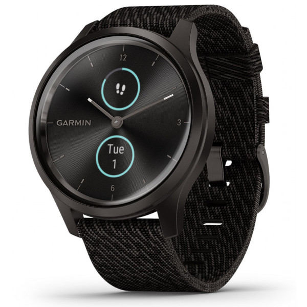 GARMIN Vivomove Style Black Pepper Nylon and Slate hybridiälykello 010-02240-03