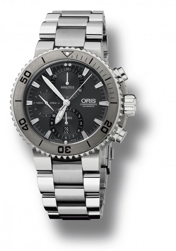 ORIS AQUIS titan chronograph miesten rannekello