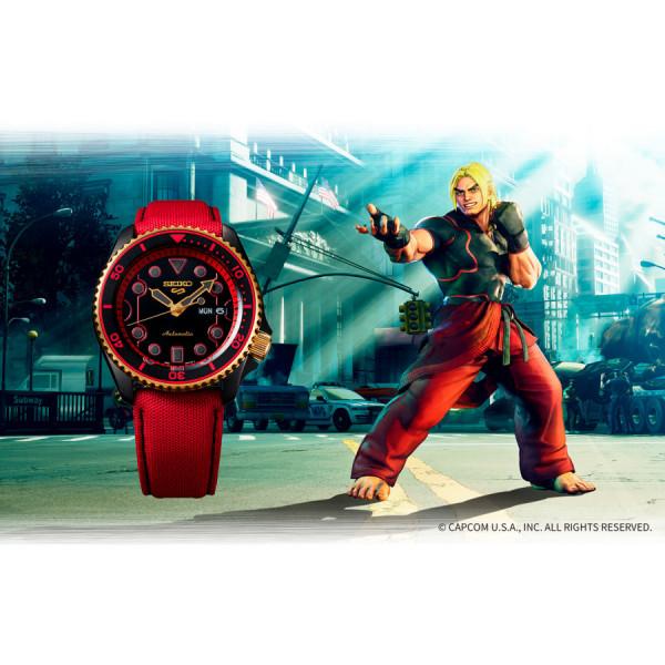 SEIKO 5 Sports X Street Fighter V KEN SRPF20K1