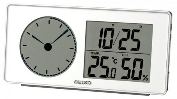 SEIKO herätyskello/lämpömittari QHL59W