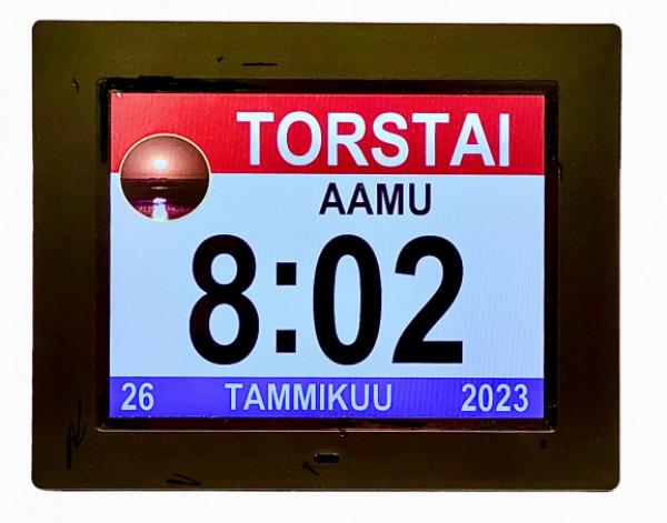 SEINÄKELLO/PÖYTÄKELLO Digitaalinen näyttö suomeksi