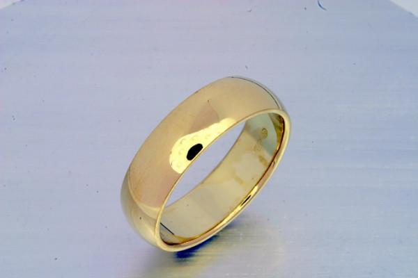Kihlasormus kultaa 6mm