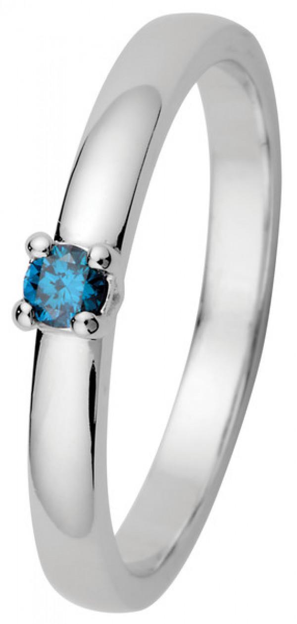 KOHINOOR Timanttisormus Estelle Ocean blue
