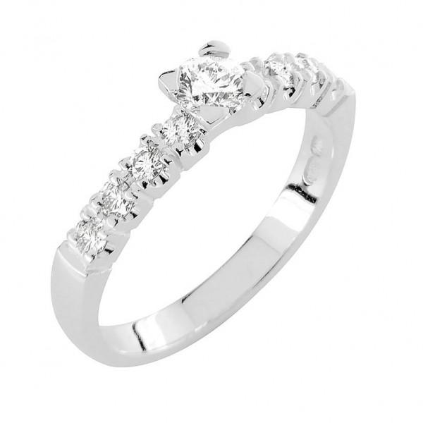 DIAMOND timanttisormus valkokulta