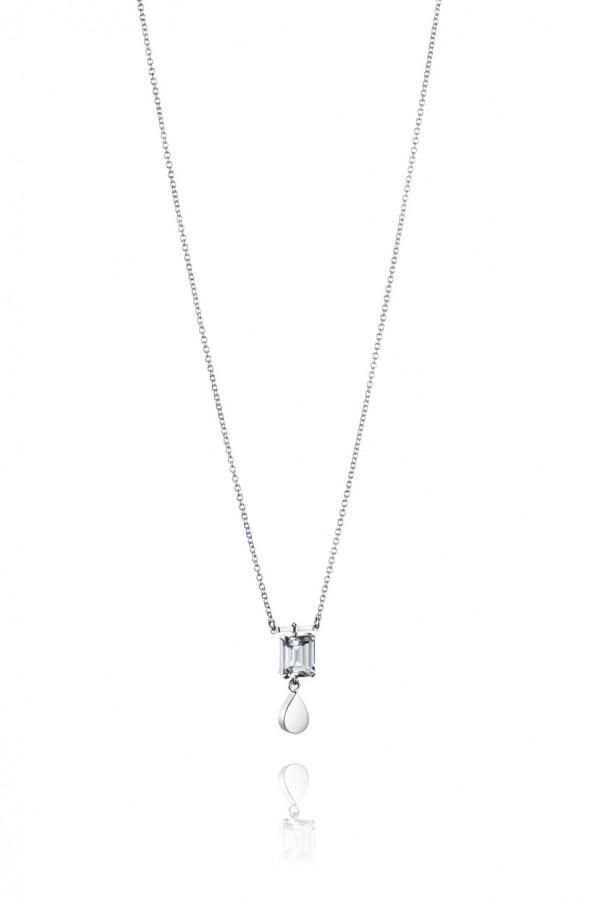 EFVA ATTLING Crystal Drop 42/45cm Kaulakoru