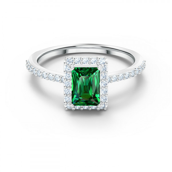 SWAROVSKI Angelic Rectangular Ring, Green, koko 52, 5572663