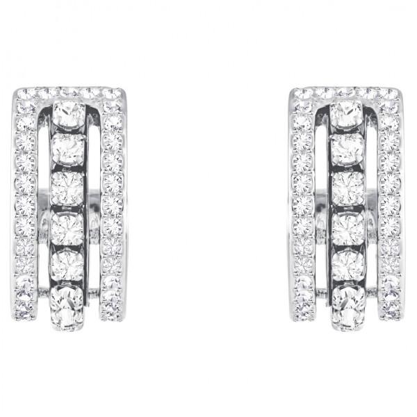 SWAROVSKI Further Pierced Earrings, White, Rhodium plating 5409658