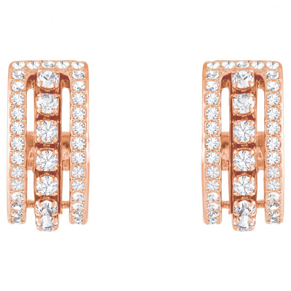 SWAROVSKI Further Pierced Earrings, White, Rose gold plating 5419852