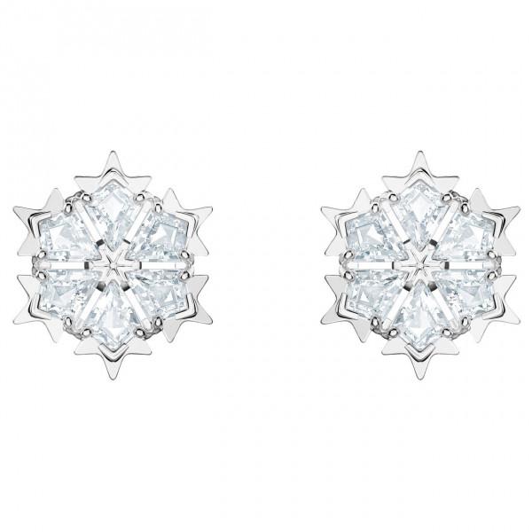 SWAROVSKI Magic Pierced Earrings, White, Rhodium plating 5428430