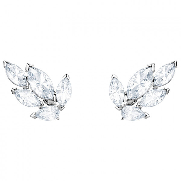 SWAROVSKI Louison Stud Pierced Earrings, White, Rhodium plating 5446025