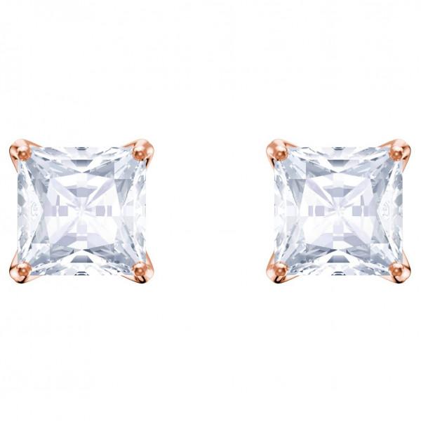 SWAROVSKI Attract Stud Pierced Earrings, White, Rose gold plating 5431895