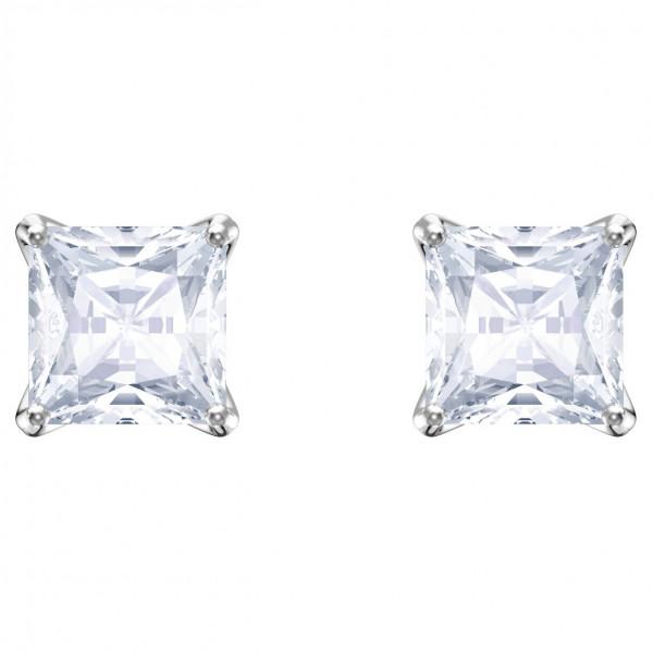 SWAROVSKI Attract Stud Pierced Earrings, White, Rhodium plating 5430365