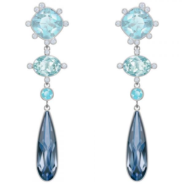 SWAROVSKI Olive Pierced Earrings, Multi-colored, Rhodium plating 5456892
