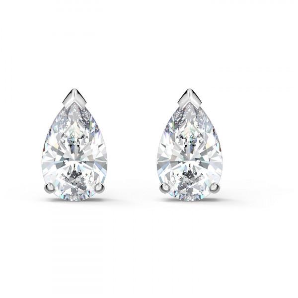 SWAROVSKI Attract Pear Stud Pierced Earrings, White, 5563121