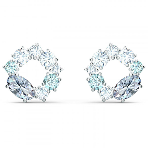 SWAROVSKI Attract Circle Stud Pierced Earrings, Multicolored, 5570943