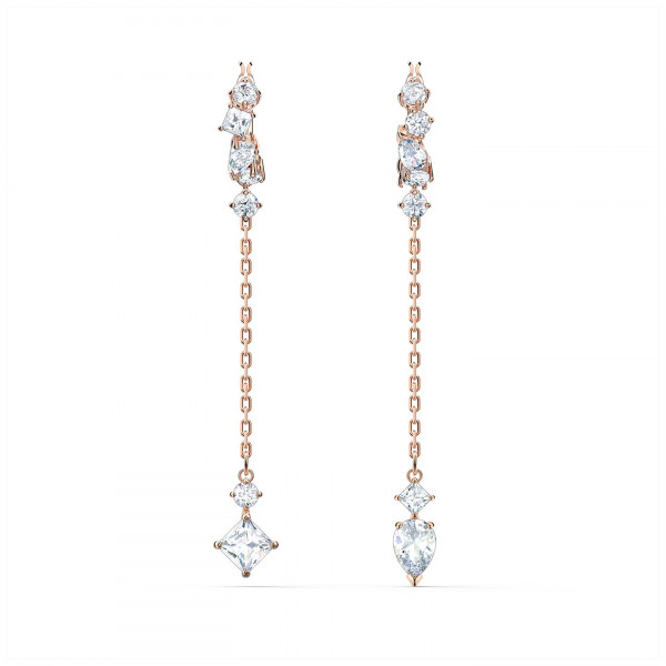 SWAROVSKI Attract Pierced Earrings, White, Rose-gold tone plated 5563118