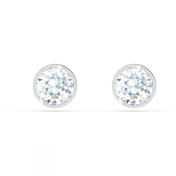 SWAROVSKI Tennis Stud Pierced Earrings, White, 5565604