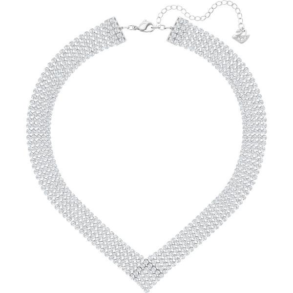 SWAROVSKI Fit Necklace, White, Palladium plating 5289715