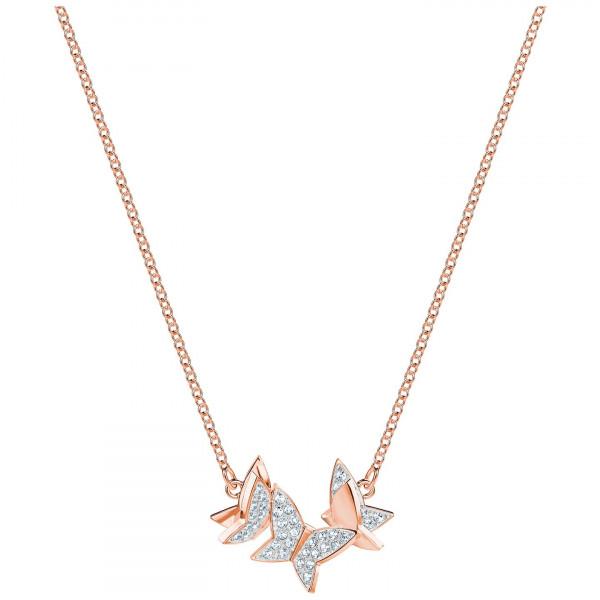 SWAROVSKI Lilia Necklace, Small, White, Rose gold plating 5382366