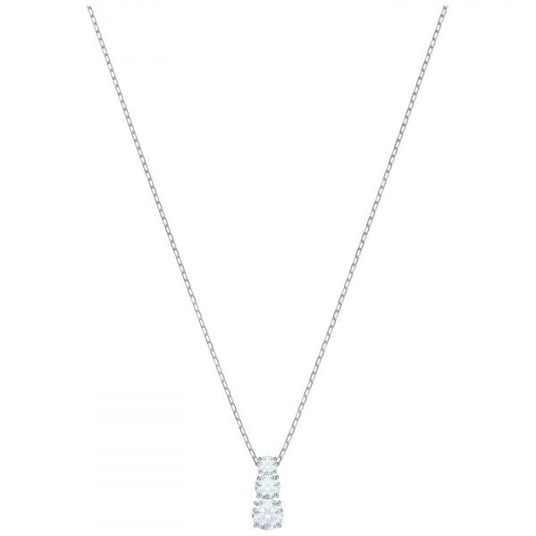 SWAROVSKI Attract Trilogy Round Pendant, White, Rhodium plating 5414970