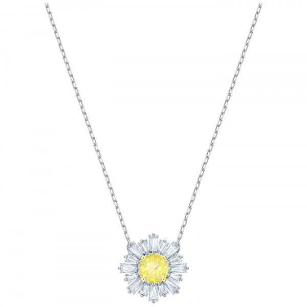 SWAROVSKI Sunshine Pendant, Yellow, Rhodium plating 5459588