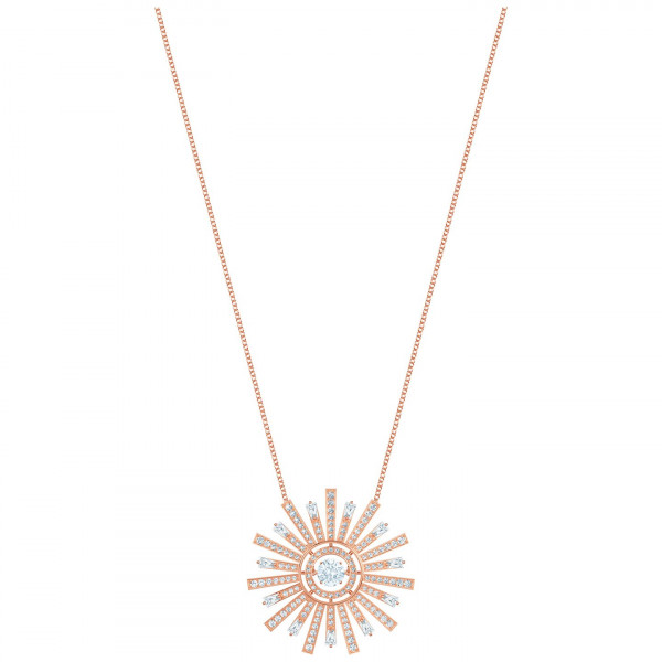 SWAROVSKI Sunshine Necklace, White, Rose gold plating 5459593