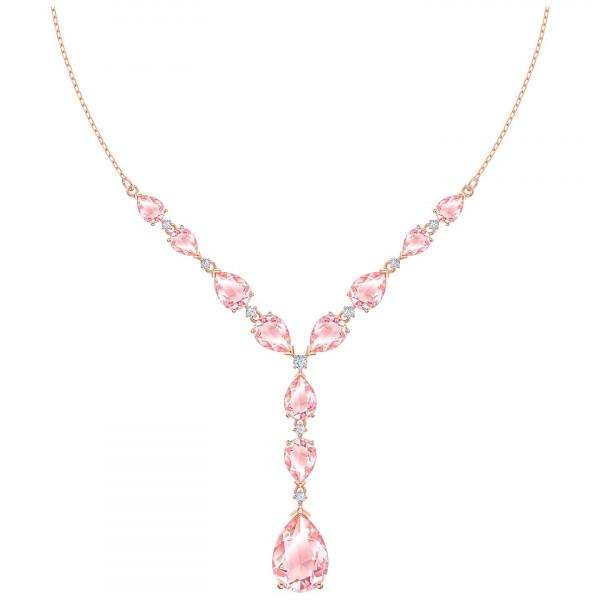 SWAROVSKI Vintage Necklace, Pink, Rose-gold tone plated 5472610