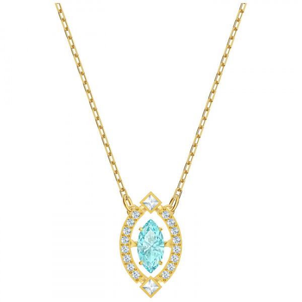 SWAROVSKI Sparkling Dance Necklace, Green, Gold-tone plated 5497474