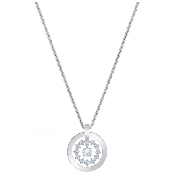 SWAROVSKI Further Necklace, White, Rhodium plated 5499001