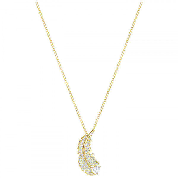 SWAROVSKI Nice Necklace, White, Gold-tone plated 5505740