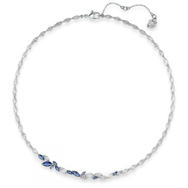 SWAROVSKI Louison Necklace, Blue, Rhodium plated 5536547