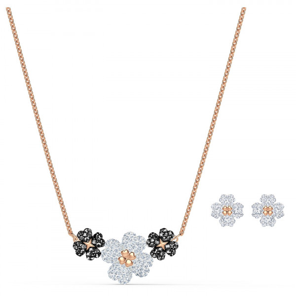 SWAROVSKI Setti Latisha Set, Black, Rose-gold tone plated 5520946