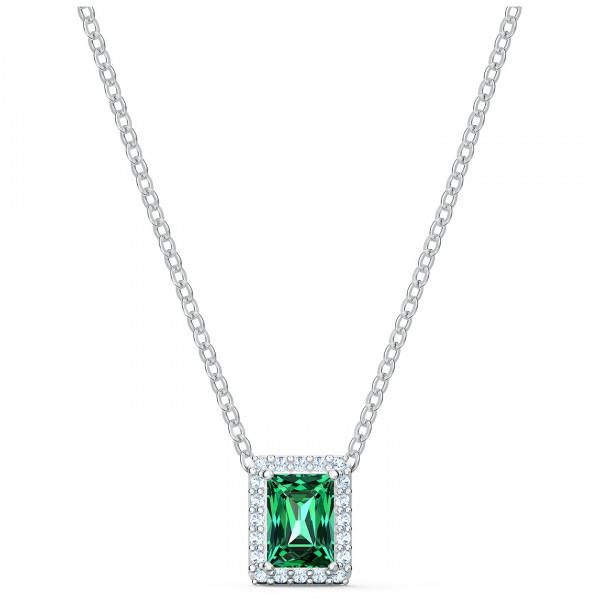 SWAROVSKI Angelic Rectangular Necklace, Green, 5559380