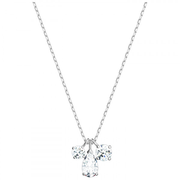 SWAROVSKI Attract Cluster Pendant, White, Rhodium plated 5571077