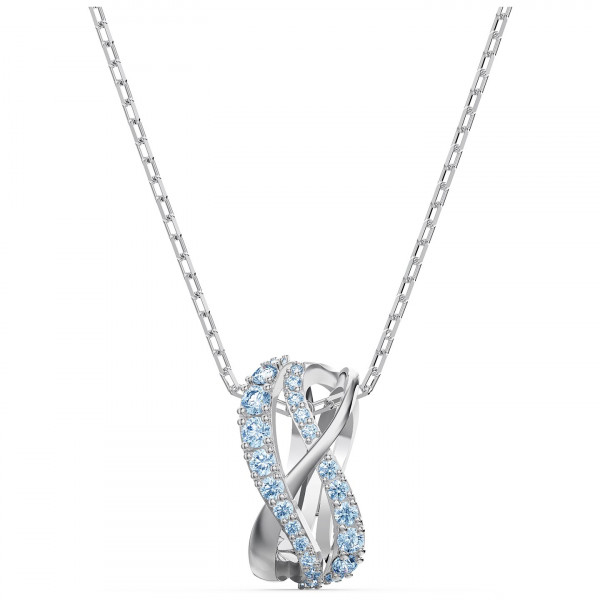 SWAROVSKI Twist Rows Pendant, Blue, 5582806