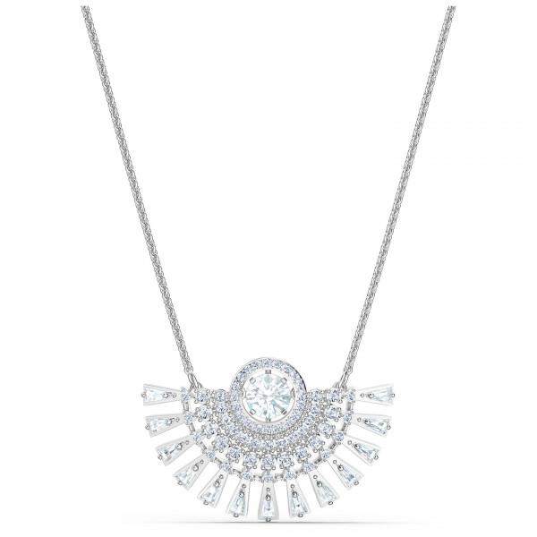 SWAROVSKI Sparkling Dance Dial Up Necklace, Medium, White, 5573694