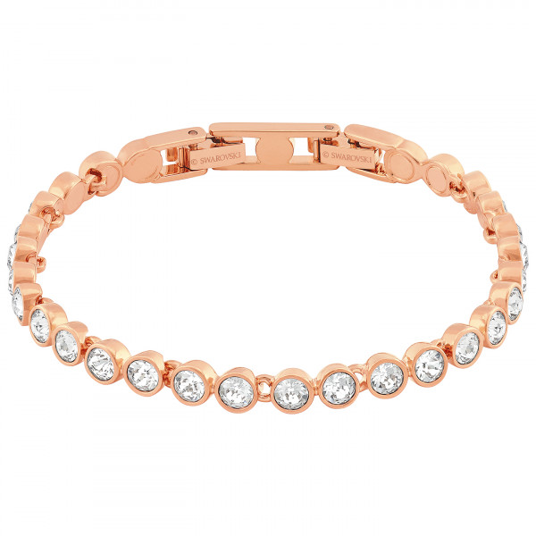 SWAROVSKI Tennis Bracelet, White, Rose-gold tone plated 5039938