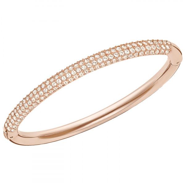 SWAROVSKI Stone Mini Bangle, White, Rose Gold Plating 5032850