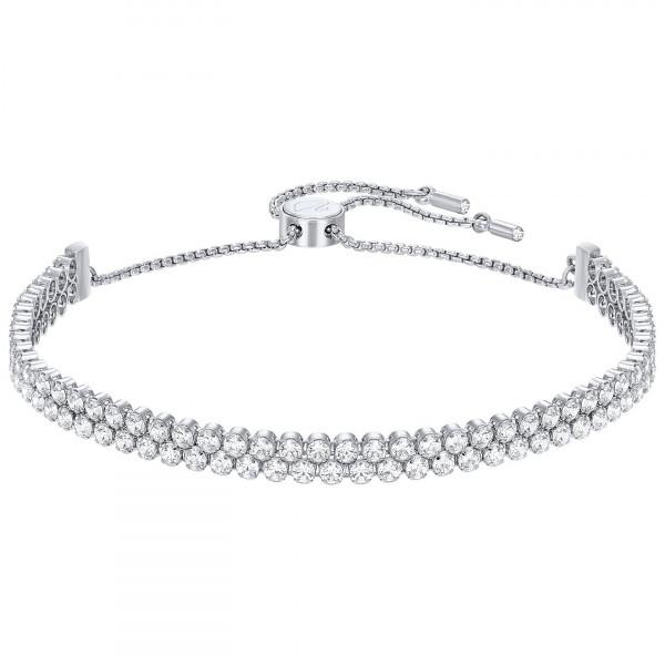 SWAROVSKI Subtle Double Bracelet, White, Rhodium Plating 5221397
